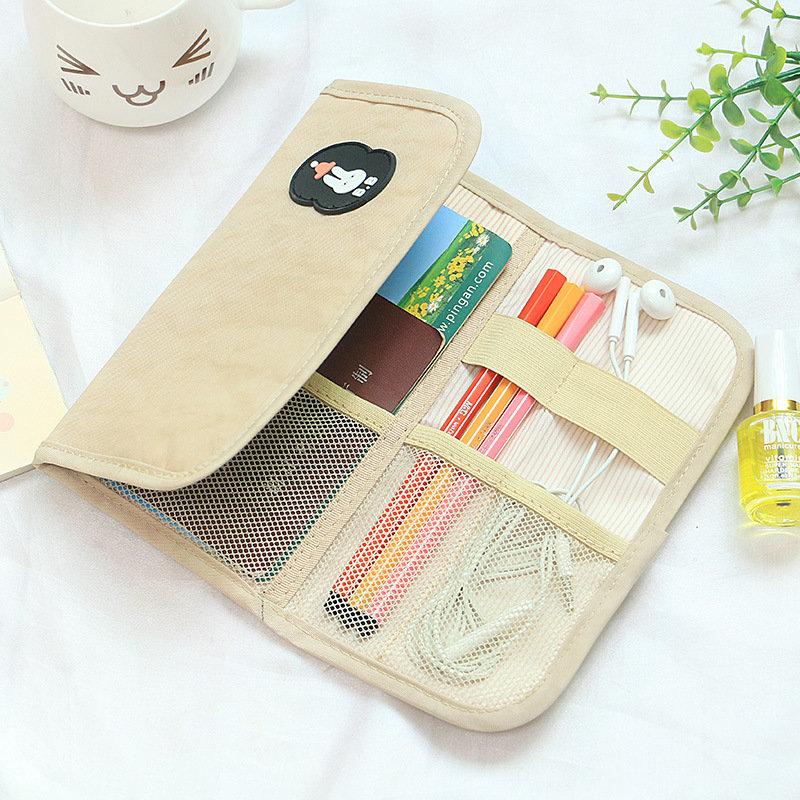 Honana HN-1030 Travel Cosmetic Bag Electronics Cable Organizer Multi-functional Stationery Bag