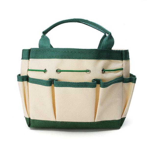 ガーデンツールストレージパッケージハンドバッグ厚みのあるオックスフォードクロスウェア防水ポータブルツールキット
