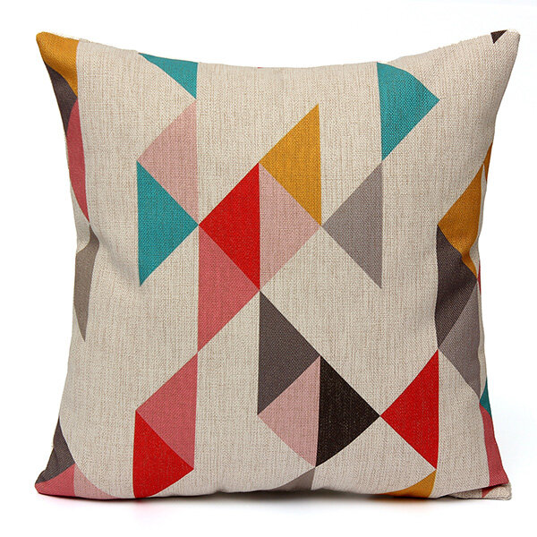 Geometric Abstract Printed Cushion Cover Sofa Bed Pillow Cass