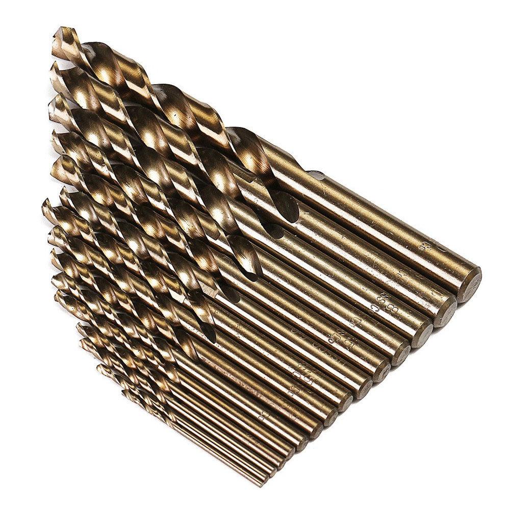 Foret hélicoïdal en cobalt HSS M35 de 15 pièces de 1,5 à 10 mm