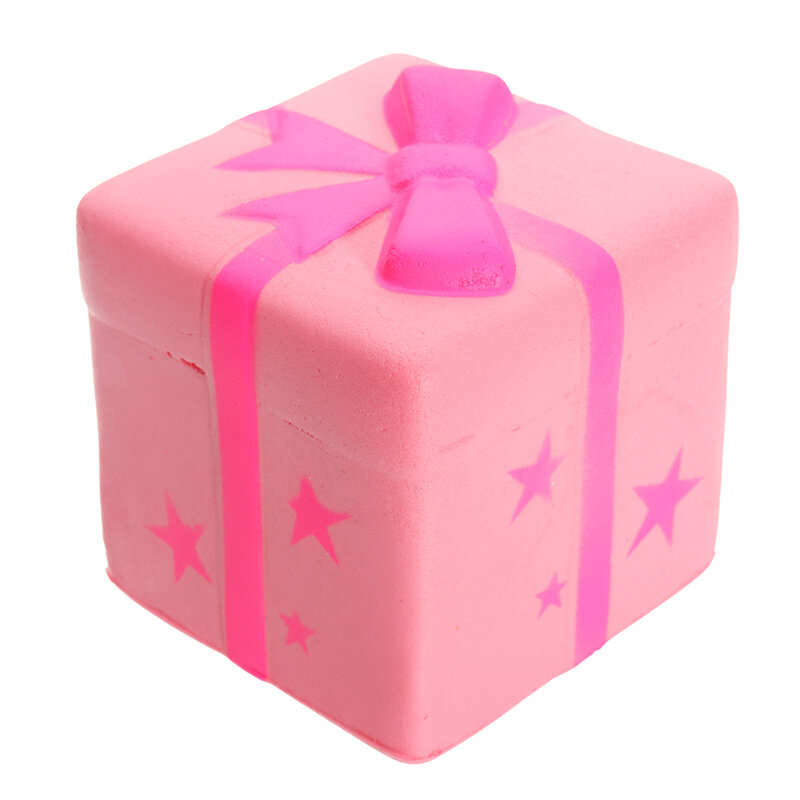 Gift Box Cake Squishy Toy Gift Phone Strap 7.5CM Slow Rising With Packaging Collection Gift Soft Toy