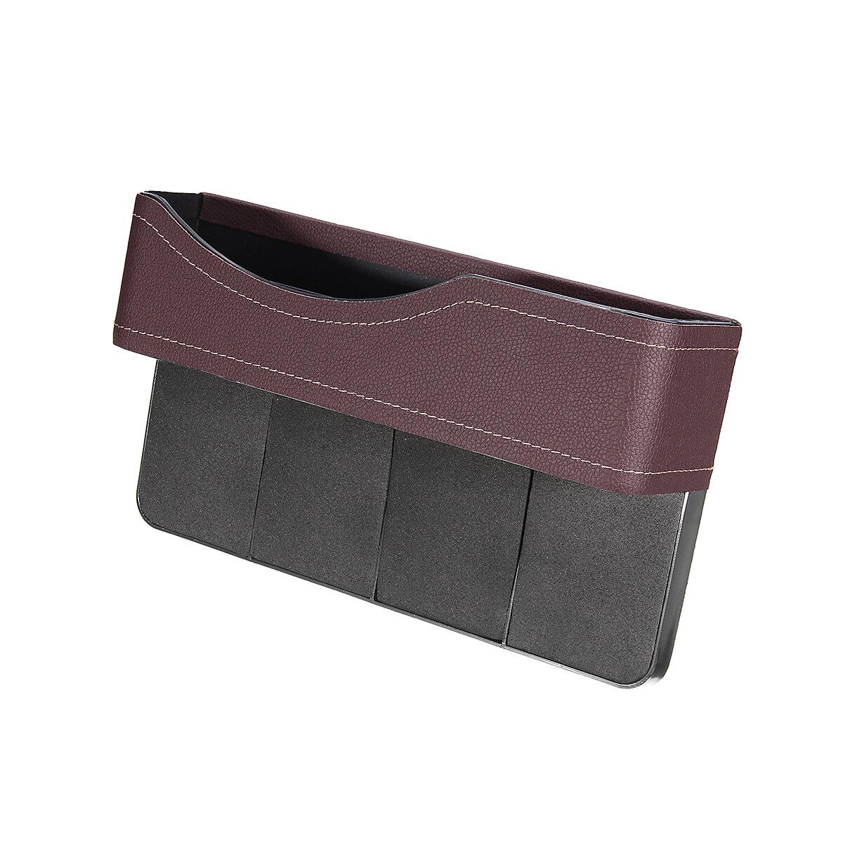 PUレザーカーシートギャップストレージボックスシートスリットポケット電話ホルダー