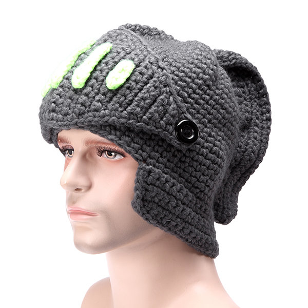 dce66bfb3d4105 Men Women Special Offer Novelty Beanie Rome Knight Knitting Hat Manual Winter  Cap Cheap - NewChic