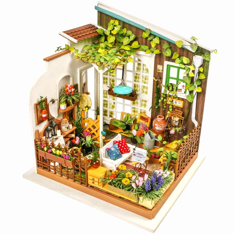 Robotime Forest House DIY Doll House Miniature With Furniture Wooden Dollhouse Toy Decor Craft Gift
