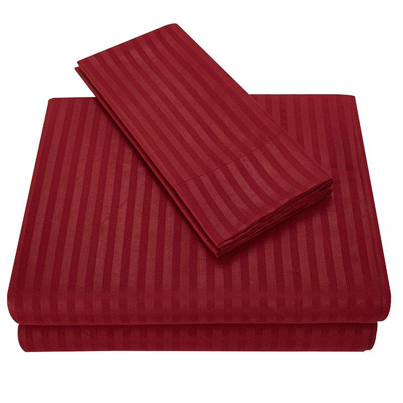 Honana Striped Bed Sheet Set 3/4 Piece Highest Quality Brushed Microfiber Bedding Sets