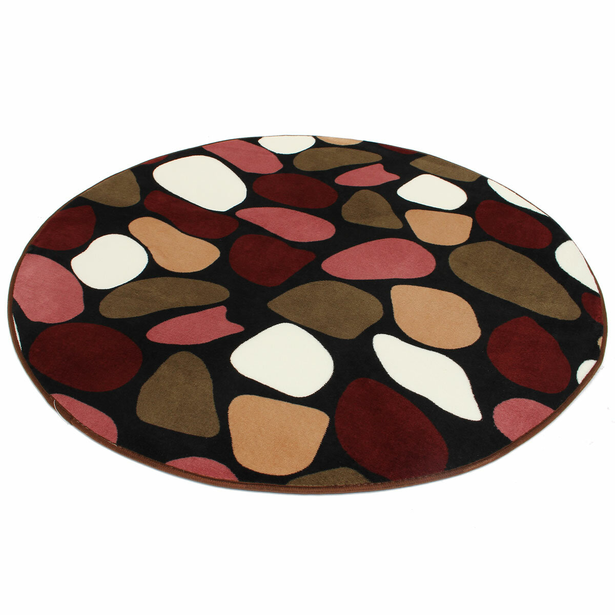 100x100cm Coral Velvet Bathroom Absorbent Carpet Anti Slip Doorsill Round Mat Rug