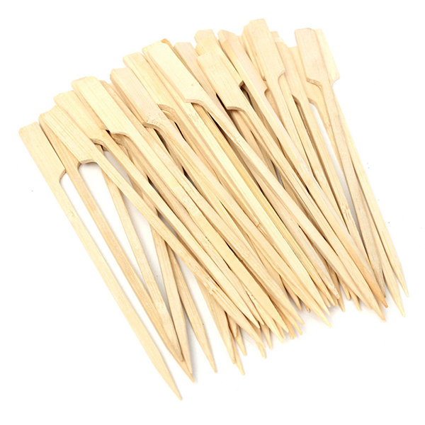 30Pcs 20cm BBQ Bamboo Skewers Wooden Grill Sticks Meat Food Long Skewers Barbecue Grill Tools 2pcs/set Oil Brush Basting Brush Kitchen Cooking Tool Silicone Brush Detachable Brush Head  BBQ Accessories