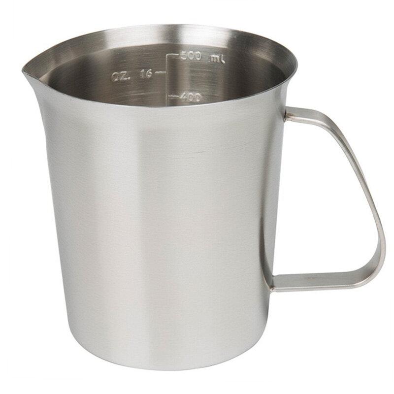 KCASA KC-MCup 18/10 Измерительный стакан из нержавеющей стали для вспенивания молока с маркировкой для молочной пены