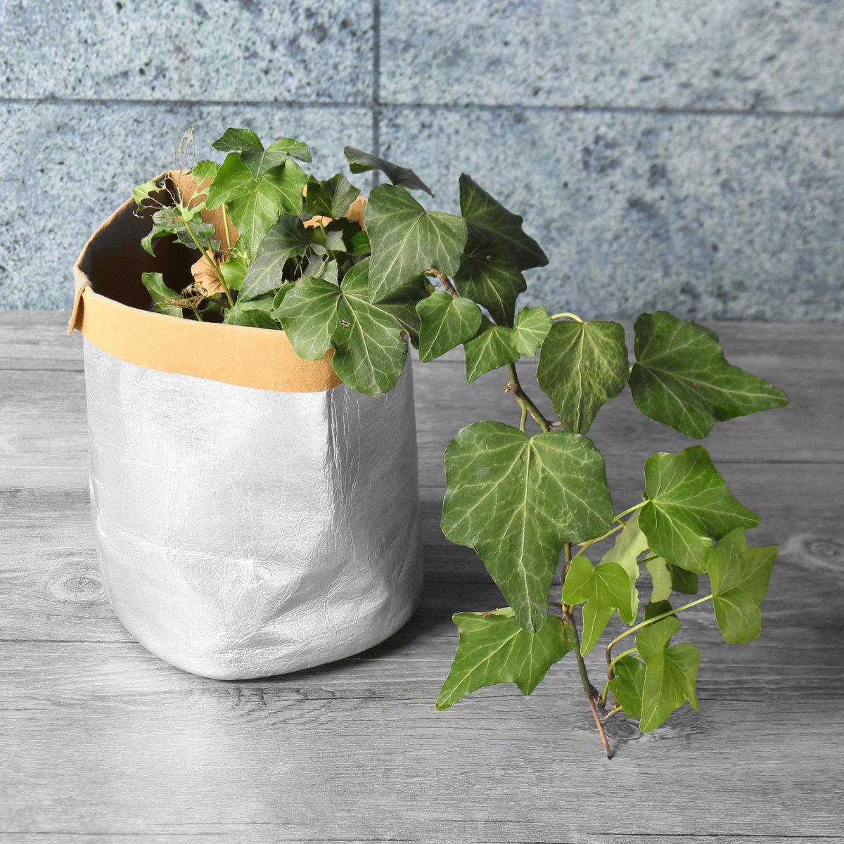 ガーデニング洗えるクラフト紙袋植物植木鉢多機能家の貯蔵容器