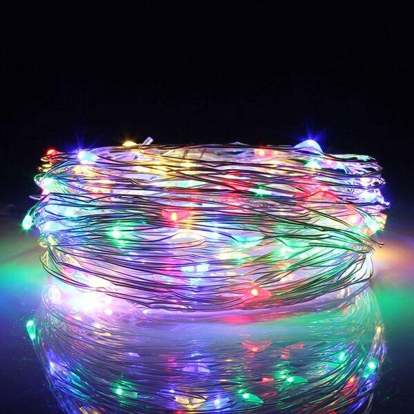 30 متر LED الفضة سلك سلسلة الجنية ضوء عيد الميلاد حفل زفاف مصباح 12 فولت المنزل ديكو