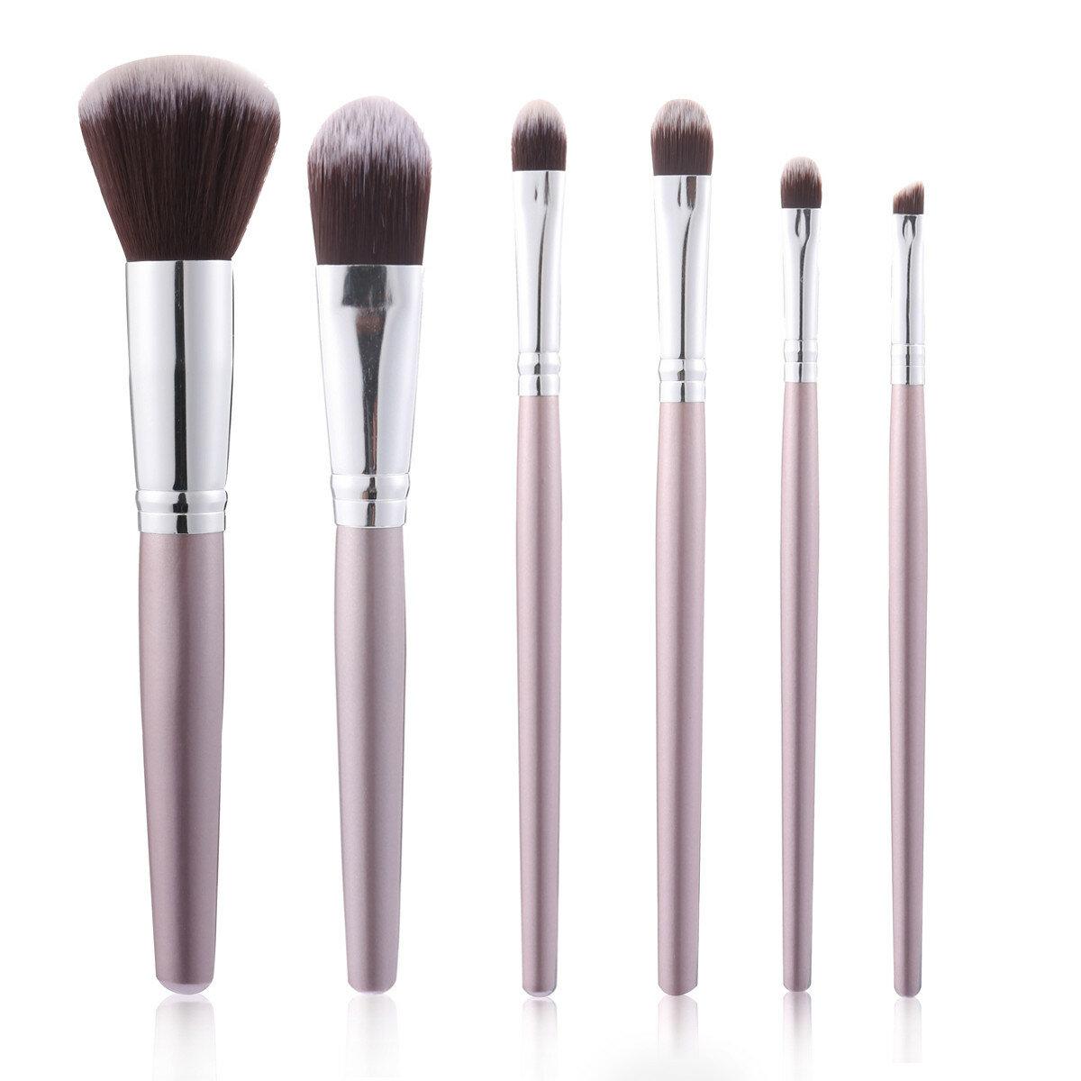 6Pcs Makeup Brushes Set Eye Shadow Foundation Blend Lips Liner Powder Cosmetics Tool