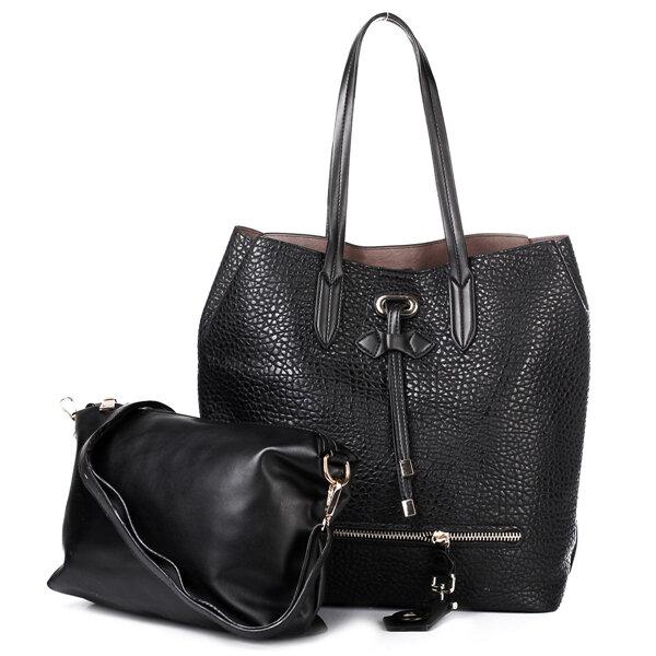Women 2PCS Elegant Casual Vintage Tassels Handbags Leisure Shopping Shoulder Bags