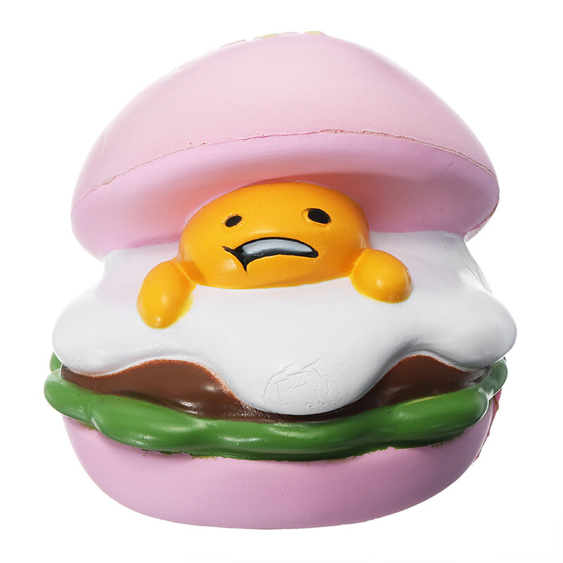 Squishy Lazy Egg Burger Slow Rising Cute Animals Cartoon Collection Gift Deocor Toy