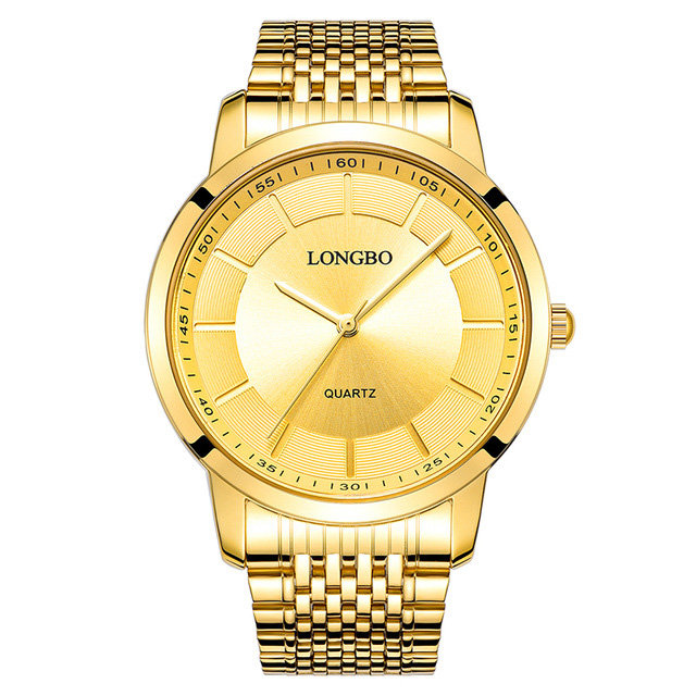 LONGBO Classic Casual Quartz Luxury Gold Watches Stainless Steel Couple Watches Gift for Men Women