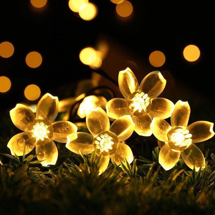 KCASA 5M 50 LED Sakura Flower String Lights LED Fairy Lights for Festival Christmas Home Decor