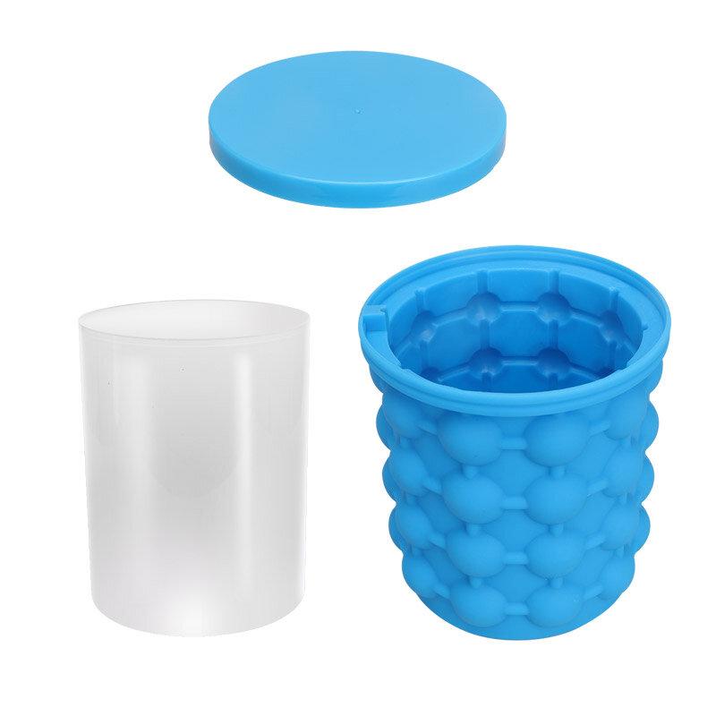 Honana Creative Space Saving Ice Bucket Cube Shape Mold Silicone Ice Genie Maker Tools Ice Bucket