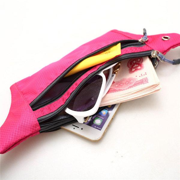 Outdoor Running Waist Bags Hiking Belt Phone Bags Sports Zipper Gym Bags Anti-theft Coin Bags
