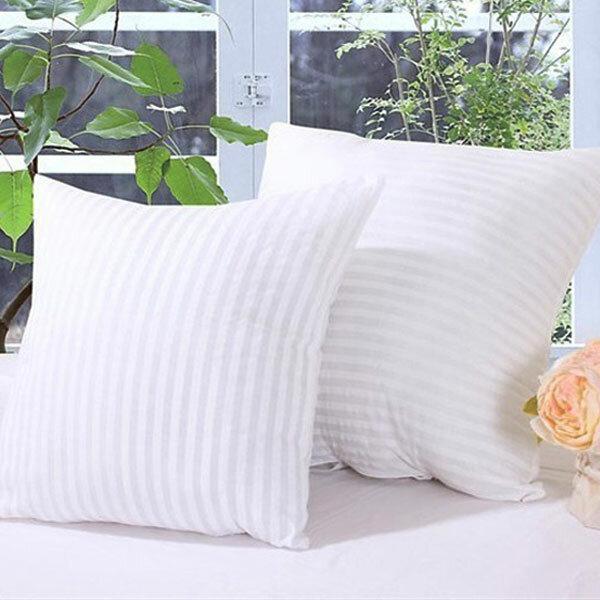 2 Größe gestreiftes Vakuum-Kompressionskissen Kern Quadratisches Kissen Innenkissen Einsatz Sofa Dekor