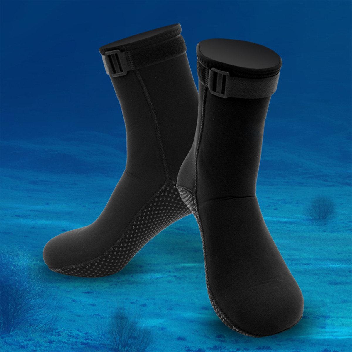 Men Women 3mm Neoprene Socks Outdoor Sports Diving Sock