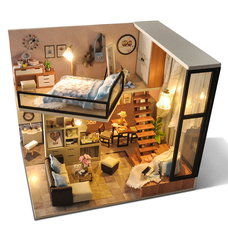 TYu_TD16_Yoko_Wei_Meng_DIY_Dollhouse_With_Light_Cover_Miniature_Model_Gift_Collection_Decor_Toys