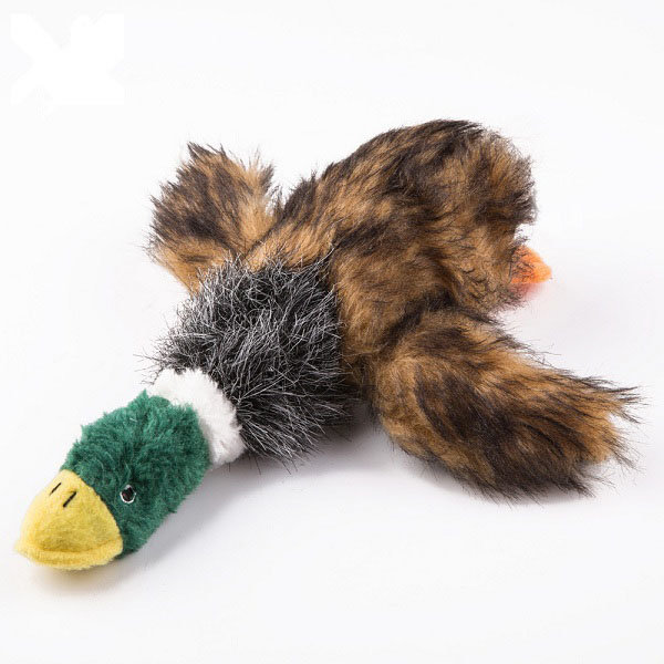 Durable Squeaker Dog Toys Peluche Masticare Toy Stuff giocattolo di anatra per i cani
