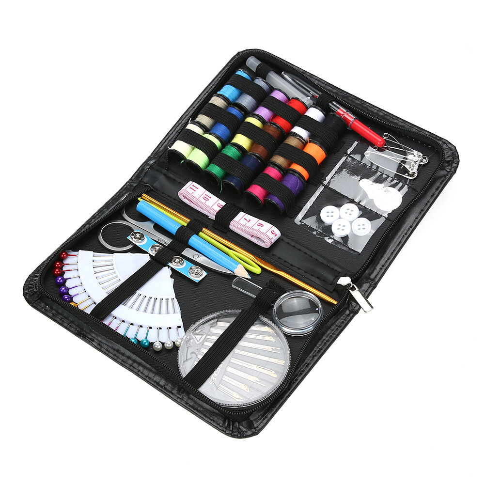 91pcs/set Multifunctional Sewing Box Kit for Quilting Stitches Knitting Craft Case Home Travelling S