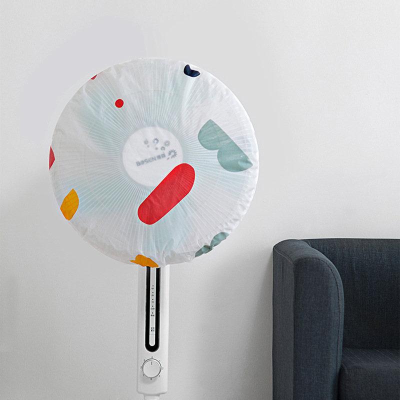 Honana PEVA Washable Waterproof Round Shape Durable Dustproof Floor Fan Cover Bag Fan Cover