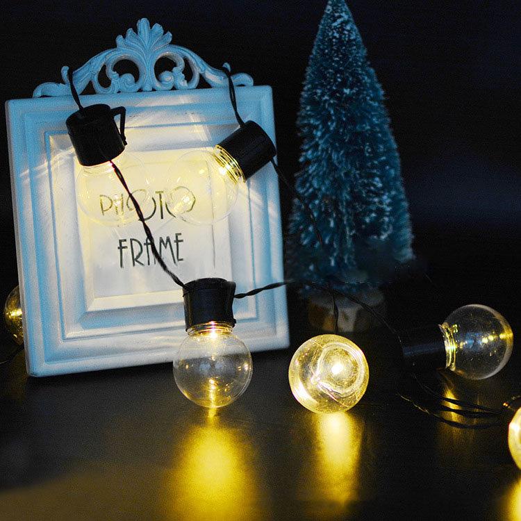 3.5M 10LED Solar Panel Light Blub Holiday Christmas Wedding Home Decoration