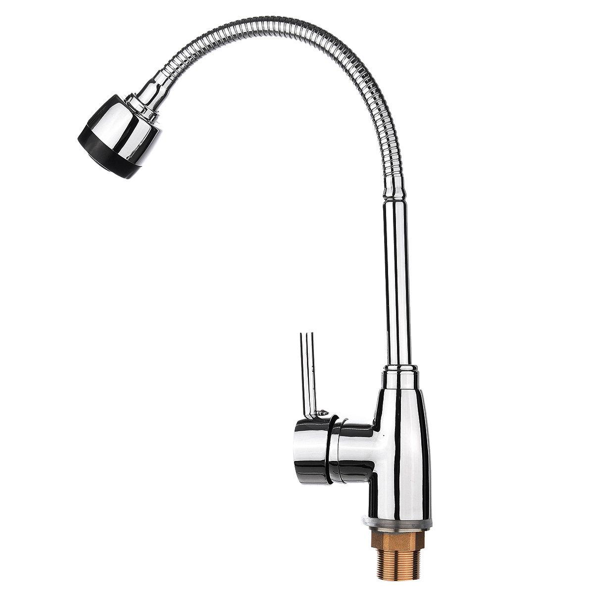Kitchen 360° Swivel Spout Single Handle Sink Faucet Pull Down Spray Mixer Tap