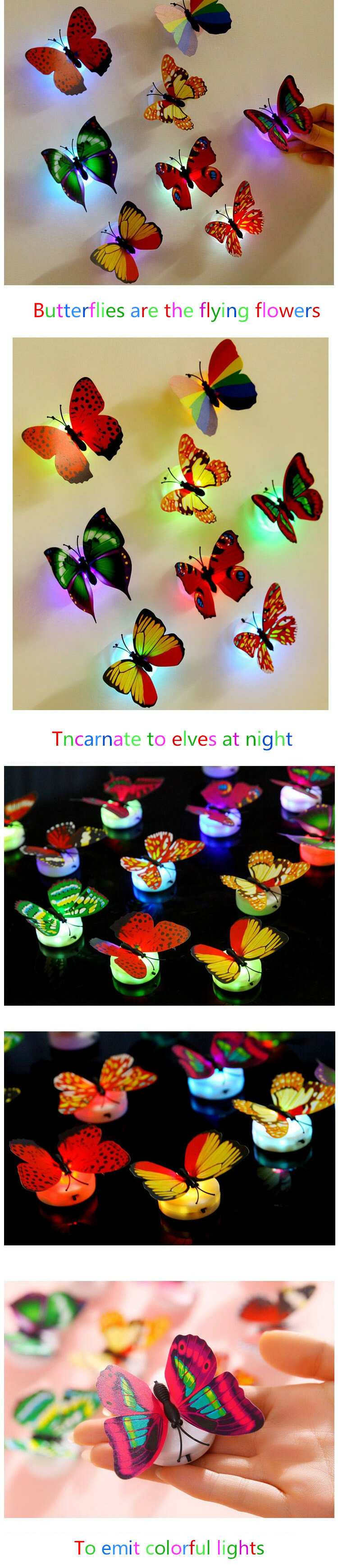 Colors Changing LED Butterfly Night Light