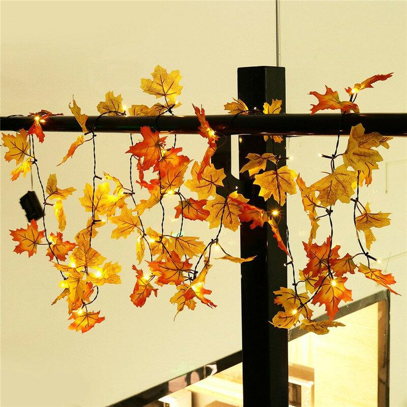بطارية تعمل بالطاقة 1.65 متر 10 المصابيح سقوط أوراق شكل داخلي الجنية سلسلة ضوء لعيد الميلاد