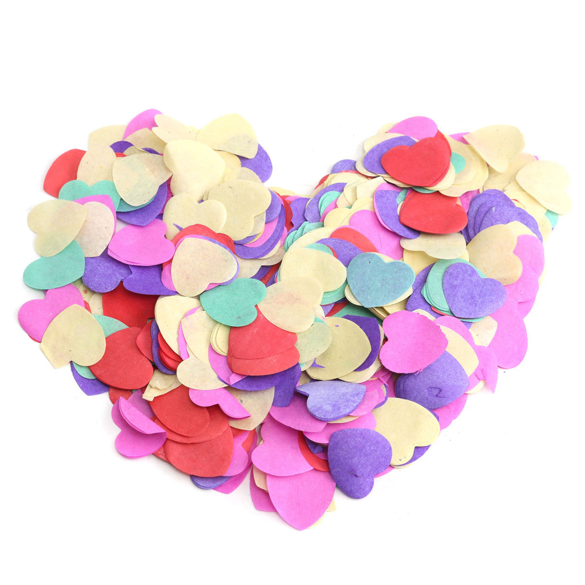 15g/1 Bag Multilcolor Love Heart Shape Paper Birthday Wedding Party Table Decoration