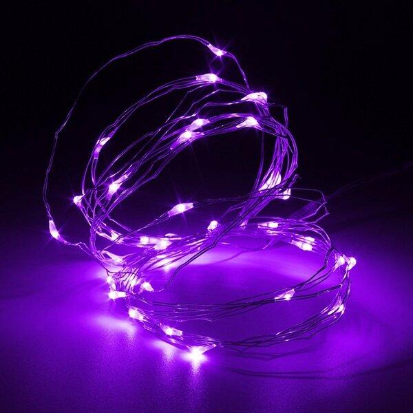 5 متر 50 ليد الأسلاك النحاسية الجنية سلسلة ضوء بطارية بدعم للماء عيد الميلاد حزب ديكور