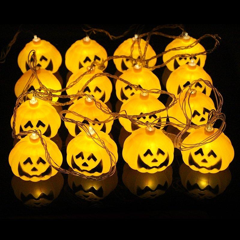 Halloween Ghost Pumpkin Colorful String Lights Garden Courtyard Haunted House Bar Holiday Decoration