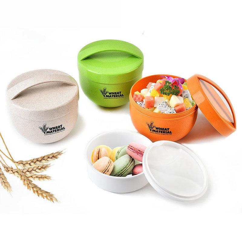 KCASA KC-BCH18 800 мл Круглый обед из пшеничного волокна Коробка Портативный экологически чистый контейнер для здоровой пищи