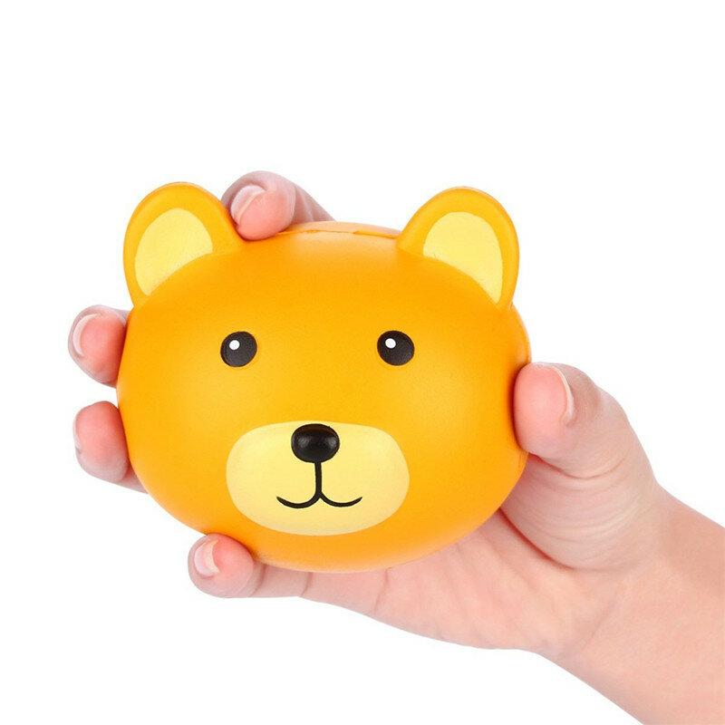 Vlampo Squishy Bear Head 3.9'' Slow Rising Original Packaging Kawaii Cute Collection Gift Decor Toy