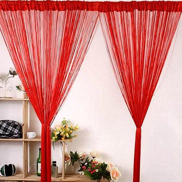 40x79'' String Curtains Door Window Panel Divider Yarn Line Tassel Curtaion Drape Home Decor