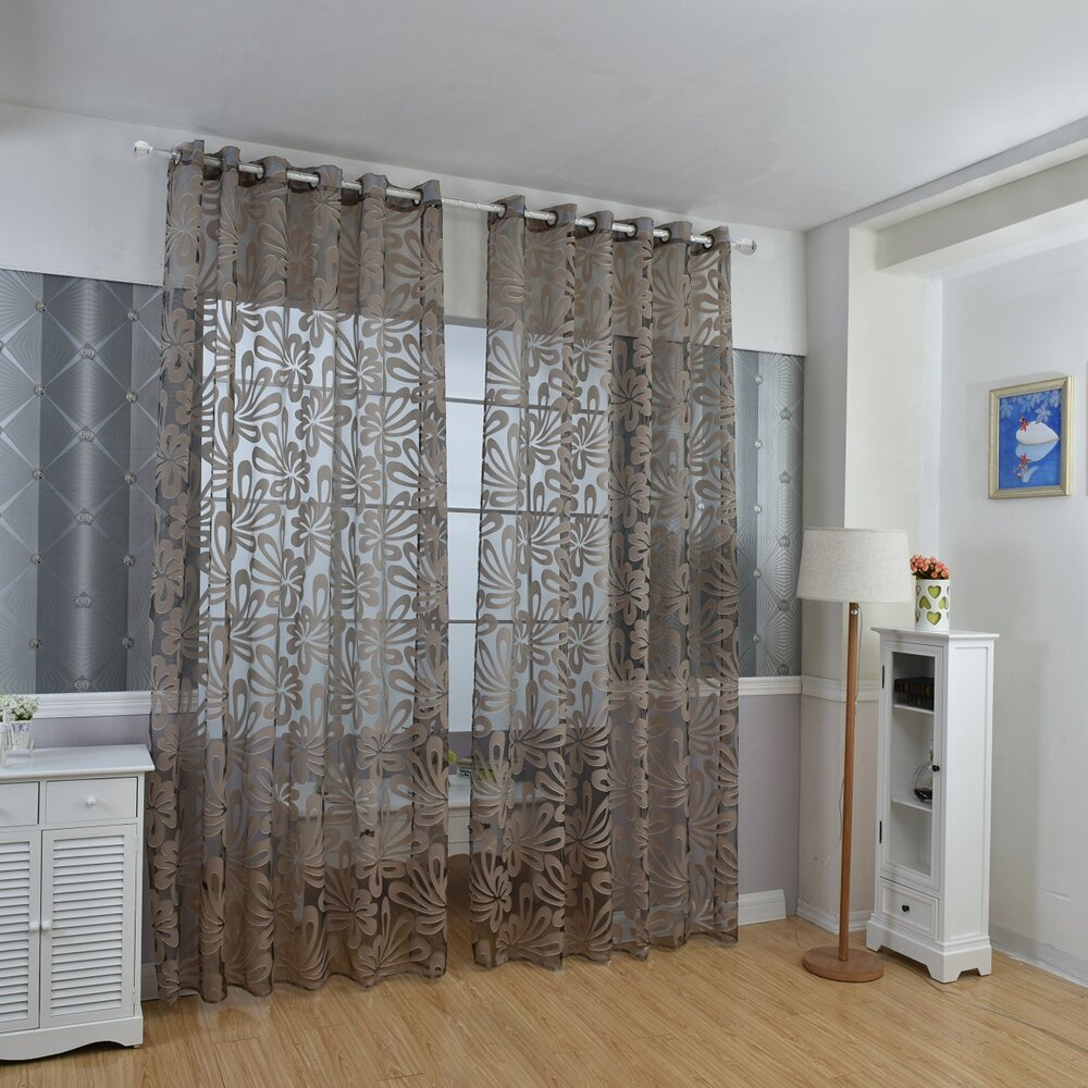 Multi Colors Semi-blackout Sheer Curtains Panel Window Blind Purple Curtains Home Decor