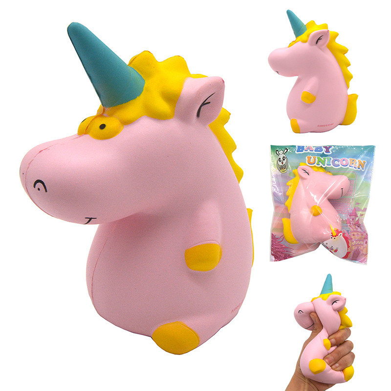 Areedy Squishy Baby Unicorn 14cm*10cm*8cm Super Slow Rising Cute Pink Scented Original Package
