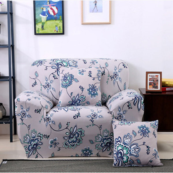 ثلاثة مقاعد نسيج سبانديكس سترينش مرنة مطبوعة مرنة أريكة الأريكة غطاء حامي الأثاث