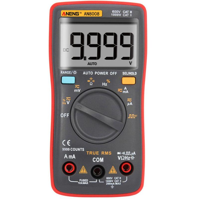 ANENG AN8008 True RMS Wave Output Digital Multimeter AC DC Current Volt Resistance Frequency Capacitance Test