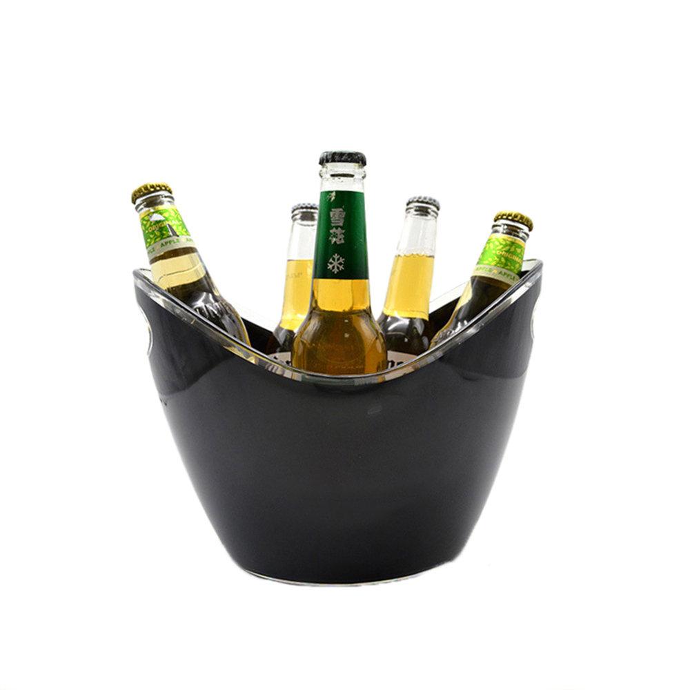 4L البلاستيك الشفاف حديقة الثلج دلو سوبر كبير دلو الثلج البيرة الشمبانيا الجليد دلو شريط الأدوات