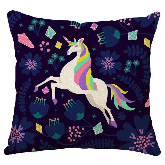 Honana 45x45cm Home Decoration Cartoon Einhorn Animal Square 12 Optionale Muster Kissenbezug