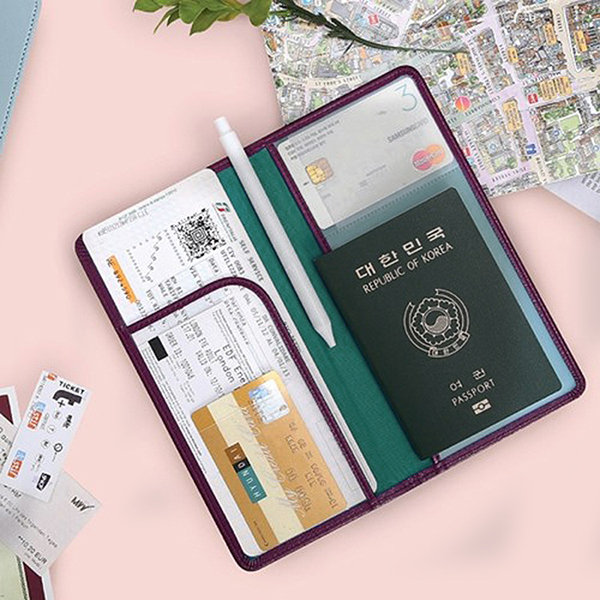 Leather Passport Holder Travel Tickets Cards Case Cover
