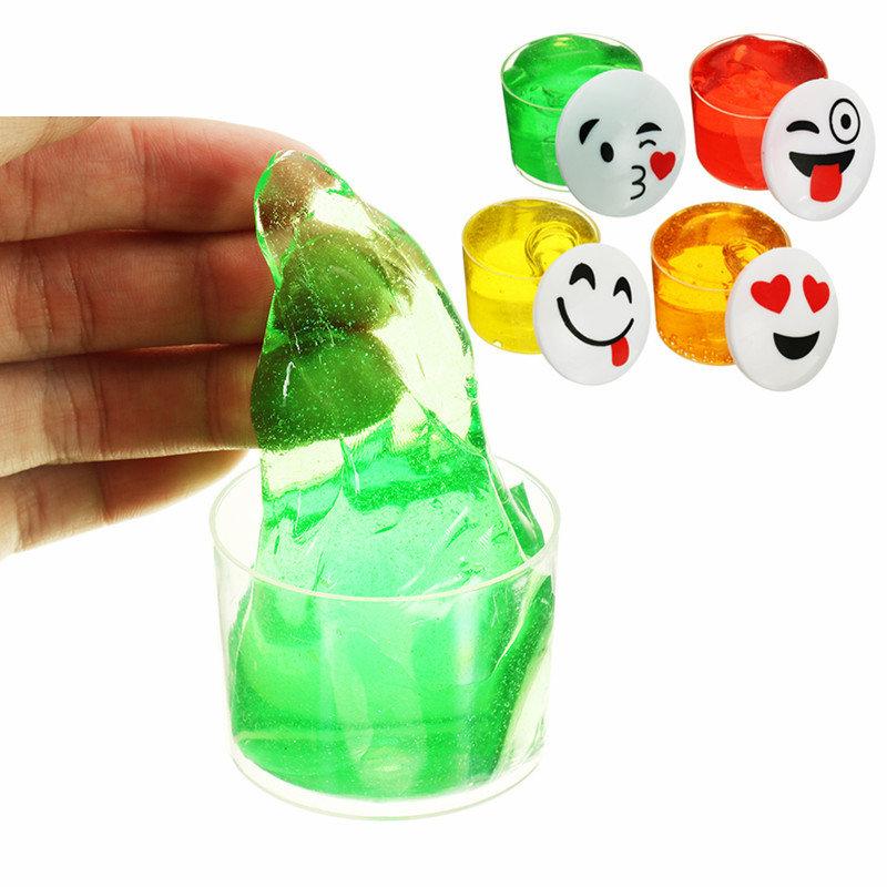 Emoji Face Slime Cup Bottle Crystal Mud Random Emoji Kids Adults Gift Stress Reliever Decompress Toy