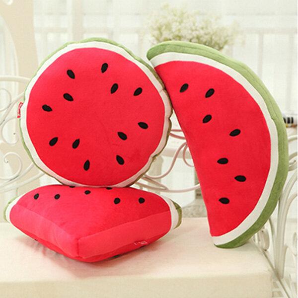 Creative Fruit Watermelon Triangle Semicircle Round Throw Pillow  Sofa Car Office  Back Cushion