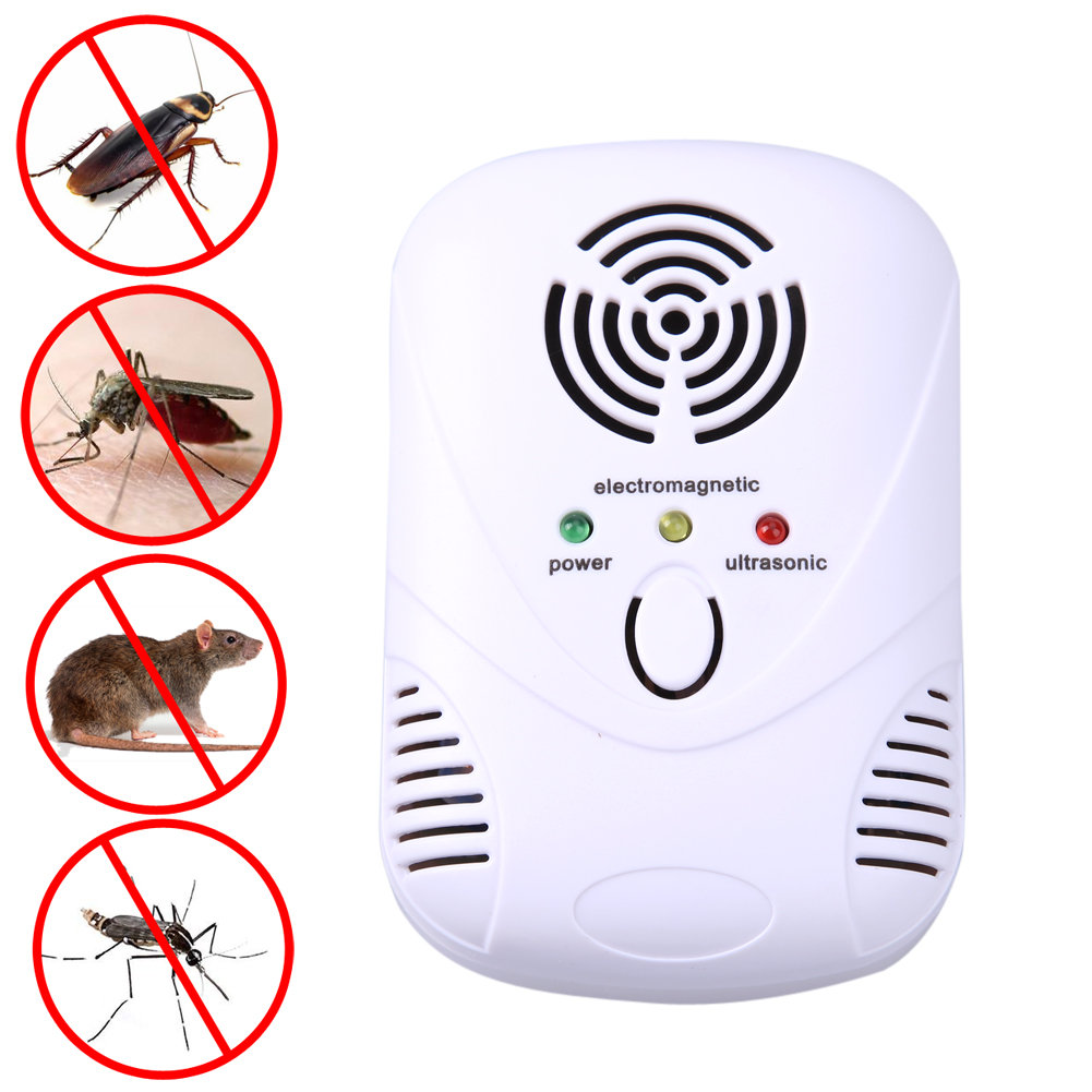 Electronic Ultrasonic Mouse Killer Mouse Cockroach Trap Mosquito Repeller Insect Rats Spiders Control