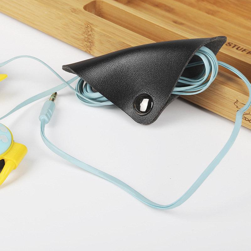 BUBM LXDC 2 pièces sangle de câble en cuir magnétique attache de câble enveloppes support de gestion de cordon clip de câble de gardien