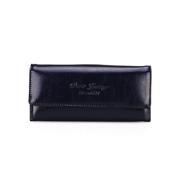 Vintage Elegant Waxy PU Leather Wallet