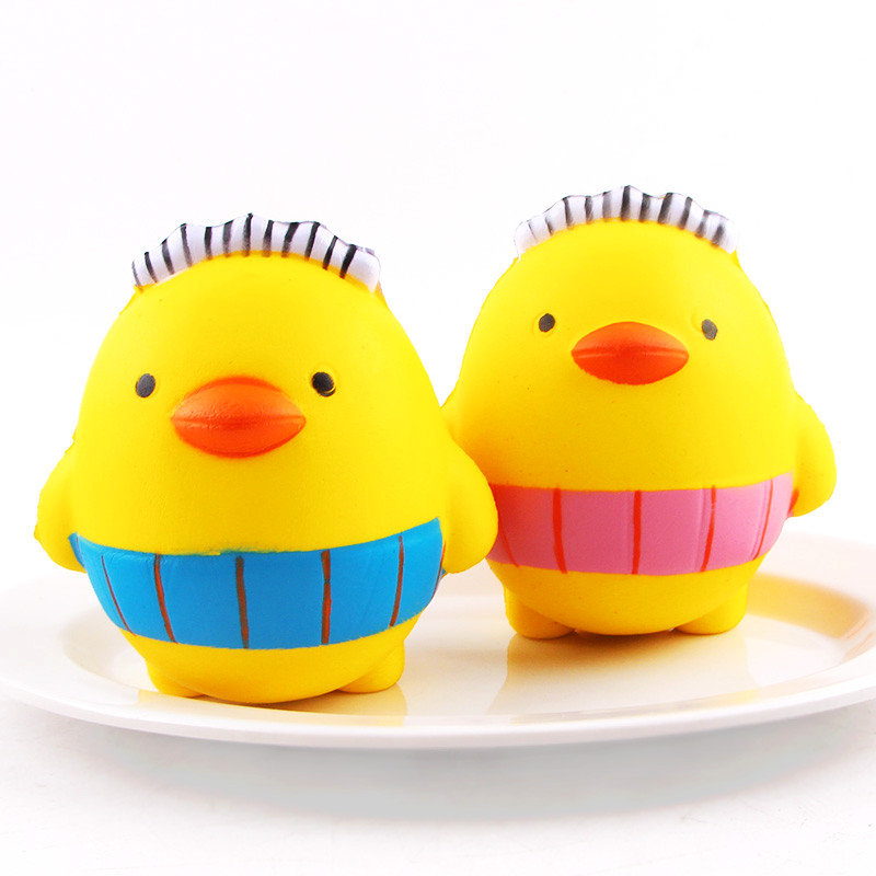 SanQi Elan Squishy Cartoon Chick Chicken Baby10cm Slow Rising With Packaging Collection Gift Toy